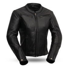 Load image into Gallery viewer, Ladies Leather Motorcycle Jacket ( SPEED QUEEN ) FIL158CLMZ