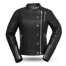 Load image into Gallery viewer, Ladies Leather Motorcycle Jacket ( WARRIOR PRINCESS ) FIL187CJZ
