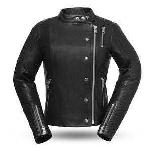 Ladies Leather Motorcycle Jacket ( WARRIOR PRINCESS ) FIL187CJZ