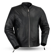 First MFG Men's Leather Riding Jacket ( ACE ) FMM202FBZ