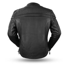 Load image into Gallery viewer, First MFG Men's Tall Leather Riding Jacket ( MAVERICK ) FIM262T