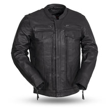 Load image into Gallery viewer, Men's Leather Motorcycle Jacket ( Raider ) FIM263CDMZ
