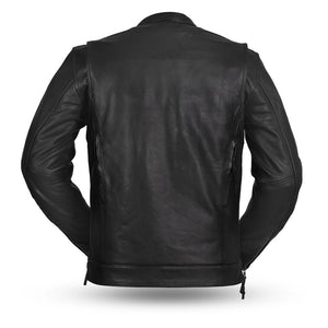 Men's Leather Motorcycle Jacket ( Raider ) FIM263CDMZ