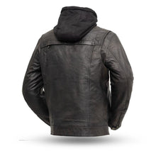 Load image into Gallery viewer, First MFG Men's Leather Jacket with Hoodie FIM276SDTZ ( VENDETTA )