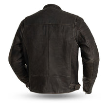 Load image into Gallery viewer, First Mfg Men's Brown Leather Jacket ( Commuter ) FIM277CVZ