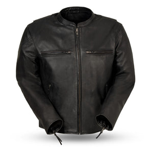 Men's FMC Leather Motorcycle Jacket ( INDY ) FIM278CDL