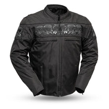 Load image into Gallery viewer, First MFG Men's Codura Reflective Skull Jacket ( IMMORTAL ) FIM450TEXZ