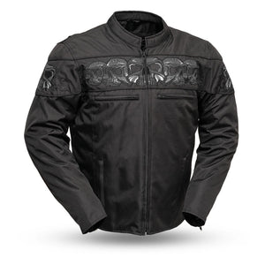 First MFG Men's Codura Reflective Skull Jacket ( IMMORTAL ) FIM450TEXZ