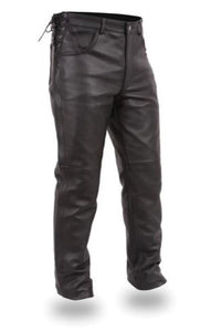 Men's First MFG Leather Pants ( BARON ) FIM807CFD