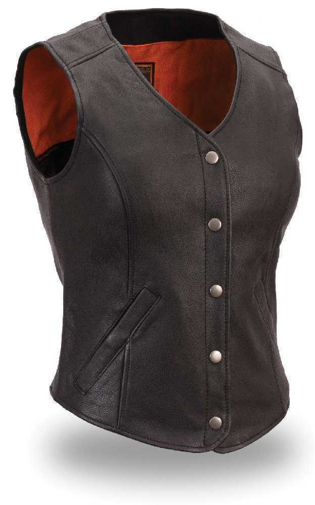 Women's FMC Leather Vest FIL545CSL