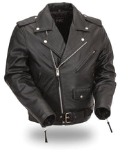 Load image into Gallery viewer, Kids Classic Style Leather Motorcycle Jacket FMC001