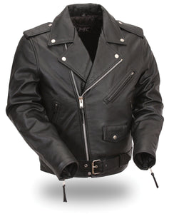 Kids Classic Style Leather Motorcycle Jacket FMC001