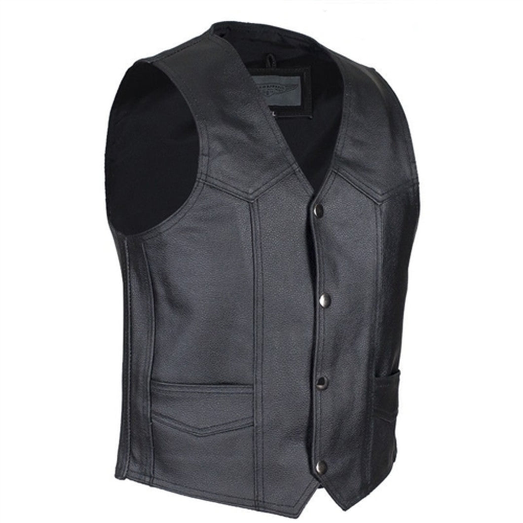 Kids Leather Motorcycle Vest KD390