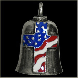 USA Cross Flag Gremlin Bell