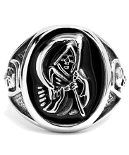 Load image into Gallery viewer, Stainless Steel Casted Grim Reaper Ring with Enamel