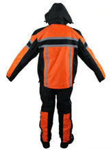 Load image into Gallery viewer, Men's Black / Orange Textile Two-Piece Rain Suit By Dream Apparel RS30