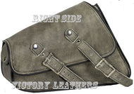 Distress Brown Leather Motorcycle Swing Arm Bags ( Left or Right Side )