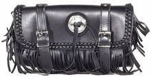 Load image into Gallery viewer, PVC Motorcycle Tool Bag wit Fringes & Concho ( Multi Size )