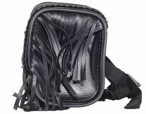 PVC Motorcycle Tool Bag wit Fringes & Concho ( Multi Size )