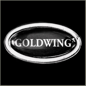 Round Goldwing Biker Pin