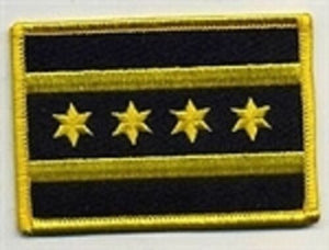 City of Chicago Flag Patch ( Yellow )