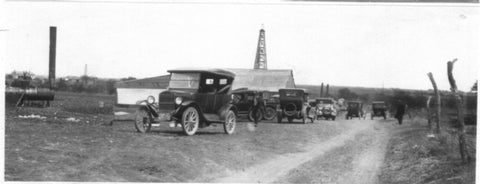 Texas oil field circa 1920