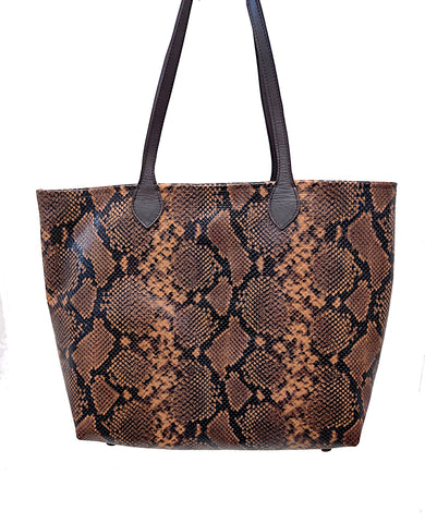 #3000 Rustic American Copperhead large Tote with snap closure
