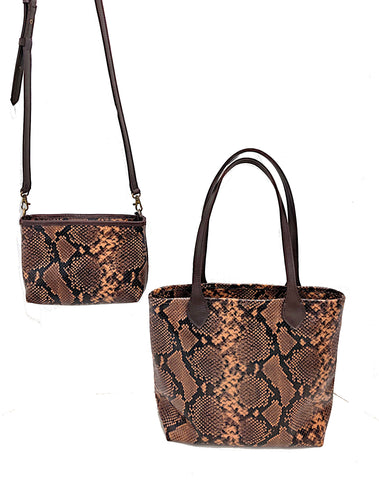 3333 cross body and 4650 Slim Tote in American Copperhead