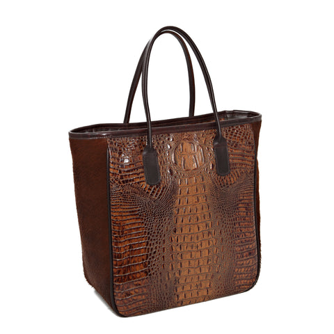 350-LV Large Western Style Tote Bag with Zipper Closure