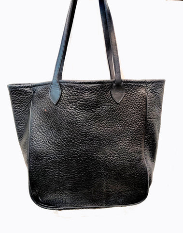 3514 black large American Bison tote