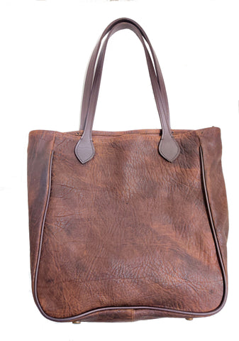 3514 large tote in Comanche Brown shrunken grain American Bison
