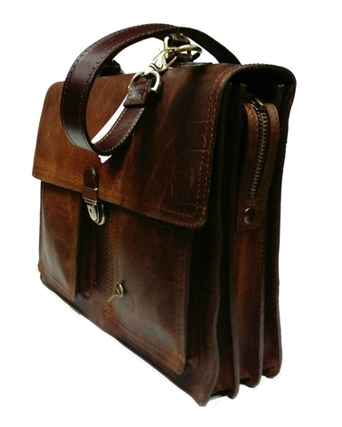 5500 Briefcase in American Buffalo - Bison leather