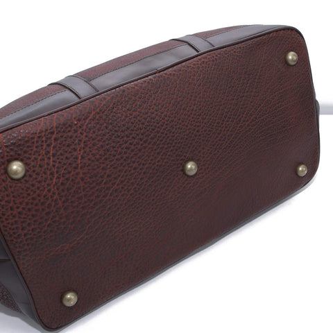 5513 Duffel - American Buffalo - Bison in a Burgundian Style with Antique Brass Bag Feet