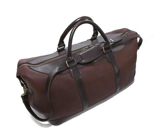5513 Duffel in American Buffalo - Bison combined with North American bridle leather and custom antique brass hardware