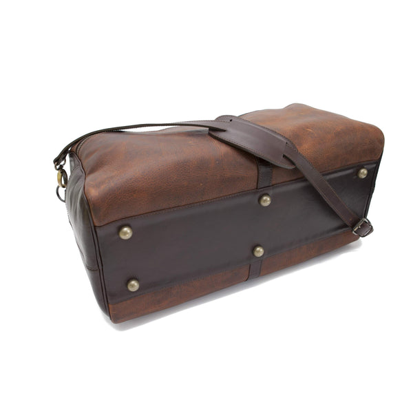 5514 Duffel in American Buffalo - Bison - Antique Brass Hardware and Feet