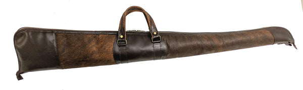 "900 Shotgun  Case 53"" in American Buffalo (Bison) combined with American Bridle Leather"