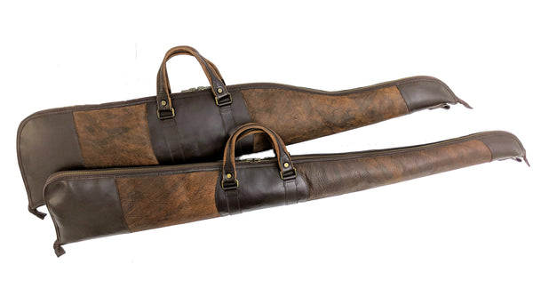 "950 Rifle Case 48"" and 900 Shotgun Case 53"" in American Buffalo and American Bridle Leather"