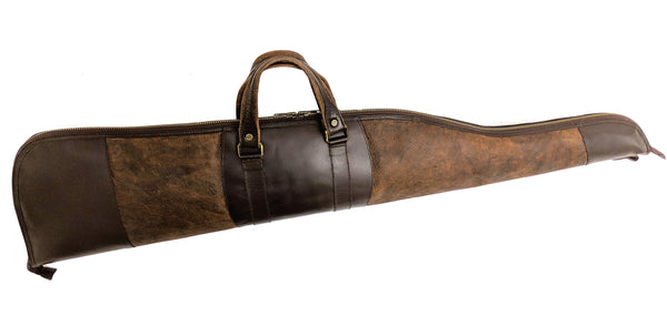 950 Rifle Case in American Buffalo (Bison) combined with American Bridle Leather