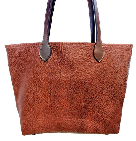 "#3012-Z ""Cibolo"" Tote Bag (Medium) - Heirloom American Buffalo (Bison) Collection"