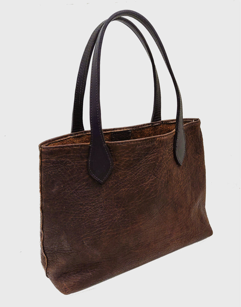 "3105-S ""Cibolo"" Handbag - Heirloom American Buffalo (Bison)"