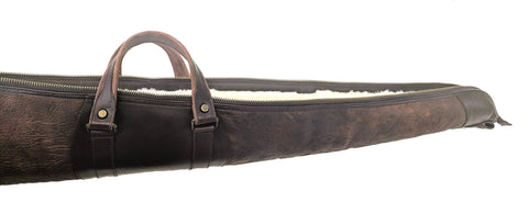 900-SK Shotgun Case - American Buffalo / Bison - Authentic Sheepskin Lining - Custom Orders Only