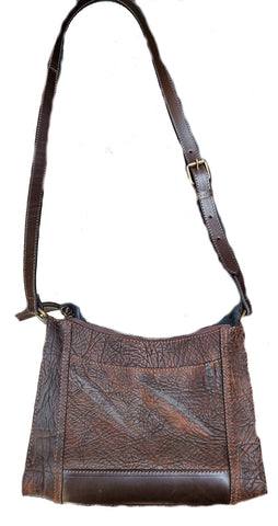"#3700 ""Cibolo"" Crossbody Bag - Heirloom American Buffalo (Bison)"