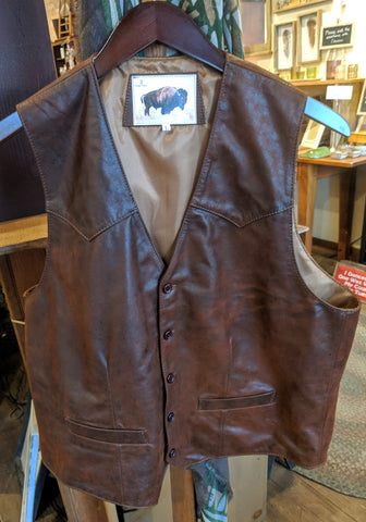 #1600-V Western Style Vest in North American Lambskin
