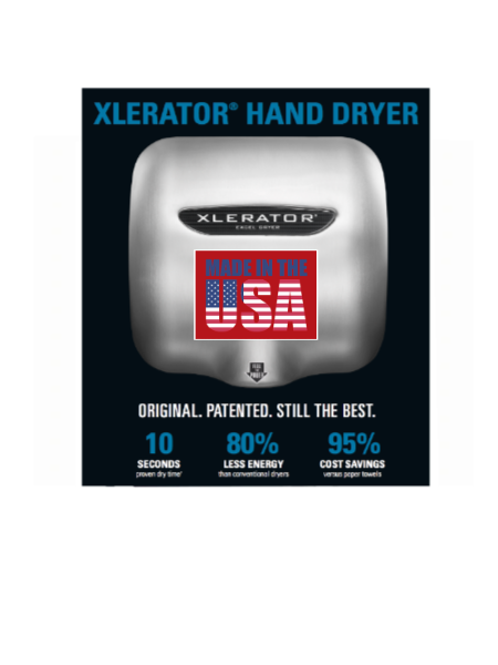 Xlerator 174 Touch Free Wall Hand Dryers Janitorial