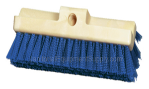10 inch Deck Scrub Brush with Stiff Blue Bristles