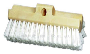 10 inch Deck Scrub Brush with White Stiff Bristles
