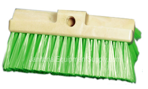 10 inch Wash Brush | Soft Green Polyester Bristles