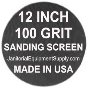 12 inch 100 Grit Sanding Screen Disc 5pk