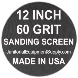 12 inch 60 Grit Sanding Screen Disc 5pk