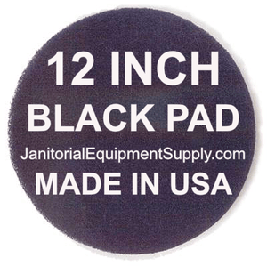 ORECK ORBITER 12 inch Black Pad | Stripping Scrubbing Pads - 5 pack